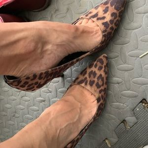Shoes Sam & Libby Leopard Heals 4 inch High 8